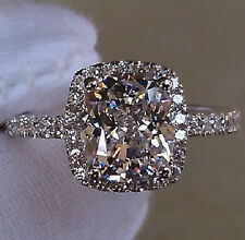 Size 7/N Bling Jewelry Ladys 925 Silver Filled White Sapphire Wedding Ring Gift