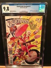 MARVEL 2016 UNBELIEVABLE GWENPOOL #1 CGC 9.8! SOLD OUT RARE FIRST PRINT