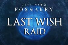 Destiny 2 Forsaken | Last Wish Raid Acc carry | Letzter Wunsch Herz Only AB541