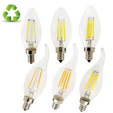 VINTAGE E14 Led Vela Bombilla 2/4w 6w Edison Filamento Lámpara de vidrio