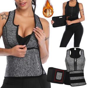 Women Sauna Sweat Waist Trainer Corset Trimmer Vest Weight Loss Body Shaper Slim