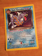NM PRERELEASE Pokemon DARK GYARADOS Card TEAM ROCKET Set 8/82 PROMO Stamped Holo