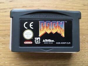 Doom Nintendo Gameboy Advance Game Genuine PAL Cart Only