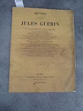 Oeuvres du docteur Jules Guérin Monoyer ophtalmologie optique médecine