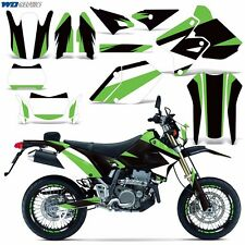 Graphic Kit Kawasaki KLX 400 Bike Decals Deco MX w/Backgrounds KLX400 00-16 MO