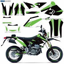 Graphic Kit Kawasaki KLX 400 Bike Decals Deco MX w/Backgrounds KLX400 00-16 MO