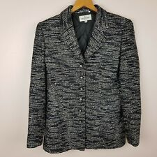 Valentino Miss V Blazer Jacket Size 44/10 Textured Wool Blend Vintage