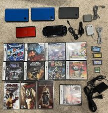 💥☆ BIG LOT Nintendo DS ☆💥 DSi XL LITE + Sony PSP and 16 Games