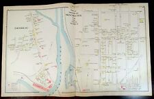 Hand Colored Map AMOSKEAG MANCHESTER NH Maps FRANCESTOWN GREENVILLE MASON 1892