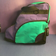 In-Line Brand Bright Green Purple Inline Skate Carry Case Bag