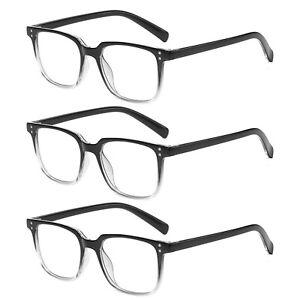 3x Gradient Reading Glasses Mens Womens Unisex Reader 1.0 1.5 2.0 2.5 3.0 3.5 4.