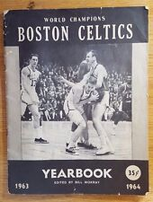1963 1964 Boston Celtics Yearbook ~ Russell Jones Havlicek Auerbach Heinsohn