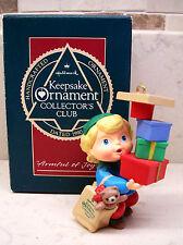 "1990 Hallmark Club Ornament - ""Armful Of Joy"""