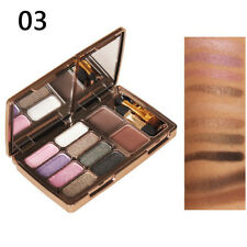 8 Eyeshadow + Eyebrow Shimmer Diamond Palette Set Waterproof Beauty Make Up no.3