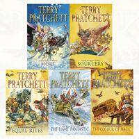 Discworld novel series 1 :1 to 5 books collection set by Terry Pratchett NEW UK