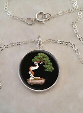 Sterling Silver 925 Necklace Nature Bonsai Tree Japanese