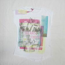 DEHA t-shirt m/corta bambina mod.F87433 col.BIANCO/TURCHESE tg.S estate 2014