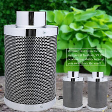 """4"""" 6"""" 8"""" Inch Carbon Charcoal Inline Fan Filter Odor Control Scrubber Grow Light"""