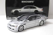 1:18 Minichamps bmw m3 e46 GTR Street 2001 Silver en Premium-modelcars