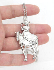 HORSE & WESTERN JEWELLERY JEWELRY LADIES SIDE SADDLE RIDER NECKLACE SILVER