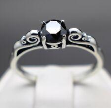 .64cts 5.62mm Real Natural Black Diamond Ring AAA Grade & $520 Value