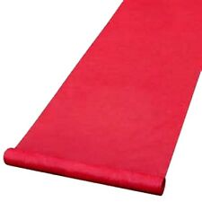 """Fabric Wedding Aisle Runner Red plain lace like no Design 36""""x 50ft."""