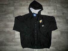 New listing Vtg Starter Minnesota Vikings NFL Black Football Parka Coat Jacket Men's Large