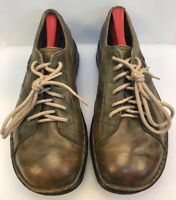 Merrell Men 9.5 M / D World Piece Oxfords Brown Leather Casual Comfort Shoes
