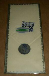 1992 PRESTON GUILD EMBROIDERED HANDKERCHIEF