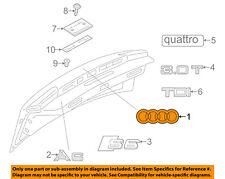 AUDI OEM 12-18 A6 Quattro Trunk Lid-Emblem Badge Nameplate 4G58537422ZZ