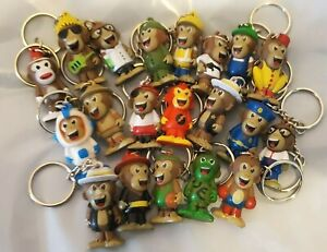 20 Monkey Keychains Great for Party Favors Birthdays Goody Bags Collectibles
