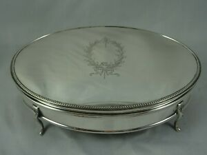 STUNNING solid silver JEWELLERY BOX, 1924