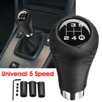 Universal 5 Speed Car Shift Knob Manual Gear Stick Shifter Lever Leather For VW