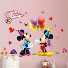 Mickey Mouse Minnie Removable Children Art  Vinyl Wall Sticker Bedroom Decor