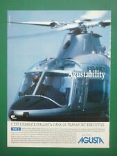 9/1990 PUB GRUPPO AGUSTA HELICOPTER HUBSCHRAUBER HELICOPTERE A109 C FRENCH AD