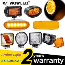 WOW - 2x Amber LED Work Light Bar 12V 24V Flood Spot Beam Offroad Fog Lights 4X4