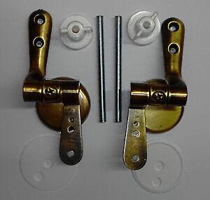 Cerniere copriwater bronzate WC universali color BRONZO