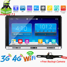 Android 7.1 HD Double 2DIN Car Radio Stereo DVD Player GPS 4G WiFi OBD2+Camera