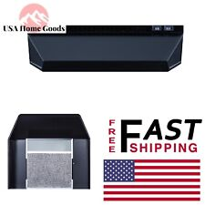 Black Non-Vented Range Hood 20 in.Switchable Light Kitchen Stove Filter