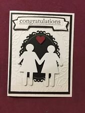 Handmade Civil Union/ Wedding /Anniversary Card....Lesbian/Gay/Same Sex.... Cute