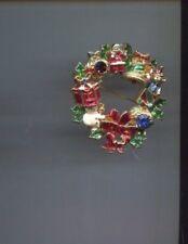 Ornament Wreath Pin Christopher Radko Christmas