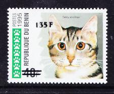 More details for benin 2000 michel 1233 1995 40fr cat surcharged 135fr unmounted mint cat eur200