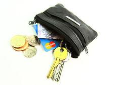 Porte-monnaie et portefeuilles pochettes noires en cuir pour femme