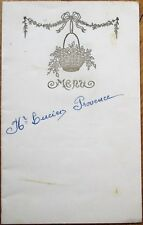 Menu: French 1953 Wedding, Bertrand Restauranteur, Chartronges - Gold Printing