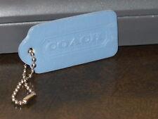 Vintage COACH Handbag Hang Tag ~ Medium Blue