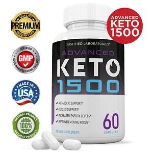 Advanced Keto 1500 Weight Loss Diet Pills goBHB Ketogenic Supplement Men Women