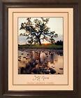Oak Pine Tree Jeff Gnass Stream Landscape Scenery Wall Decor Art Framed Picture