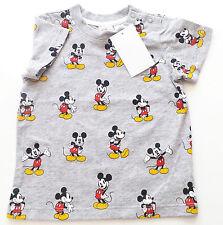 T-Shirt Gr.74 H&M NEU 100% baumwolle mickey mouse disney grau baby sommer ssv