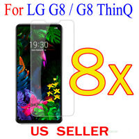 8x Clear LCD Screen Protector Guard Cover Film shield for LG G8 / G8 ThinQ