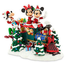Disney Store Santa Mickey Mouse and Friends on Train Figure New with Tags